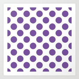 Purple Large Polka Dots Pattern Art Print
