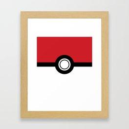 Poke-Ball Framed Art Print