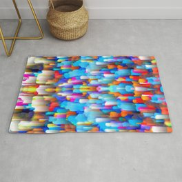 Colorful digital art splashing G397 Rug