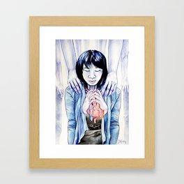 Choked Blue Framed Art Print