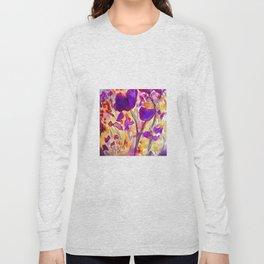 Poppies - Purple Watercolour Long Sleeve T-shirt