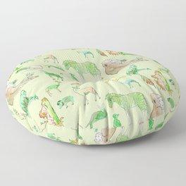 Watercolor Zoo Floor Pillow