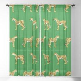 Cheetah Jungle Lush Sheer Curtain