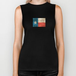 Vintage Aged and Scratched Texas Flag Biker Tank