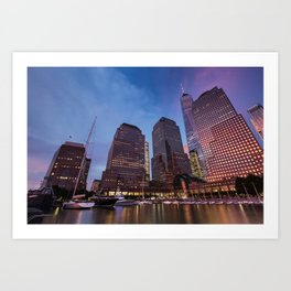 Sunset at Brookfield Place in Battery Park 2017 Art Print