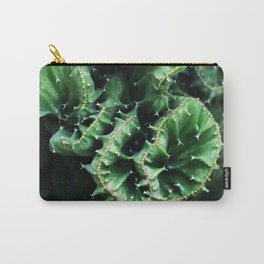 Emerald green Cactus Botanical Photography, Nature, Macro, Carry-All Pouch