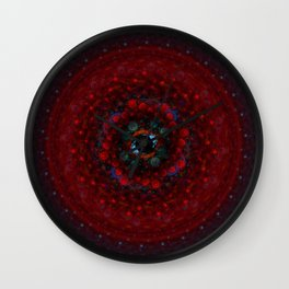 Fused Mandala Wall Clock