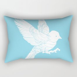 Bird Landing Rectangular Pillow