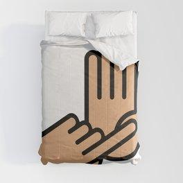 Oakland County Michigan Hand Map Comforters