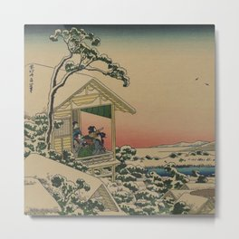Vintage Japanese Tea House Metal Print