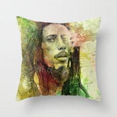Reggae Rebel (Marley) Throw Pillow