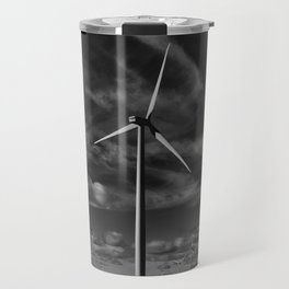 Wind Turbines #moody #blackwhite Travel Mug