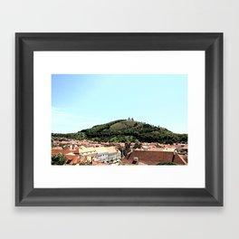 Church on a Hill Framed Art Print