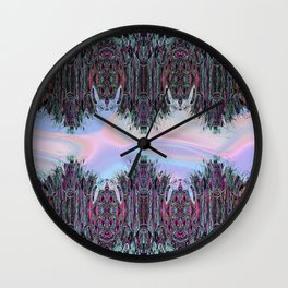 Holographic Embroidery Fringe Print Wall Clock