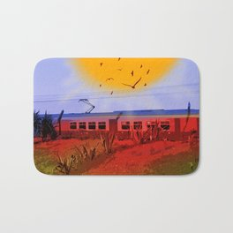 The Train Passed By Bath Mat