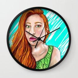 Green-Eyed Girl Wall Clock