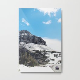 At the top of Glacier National Park Metal Print