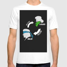Metal Gear: Solid Liquid States SMALL White Mens Fitted Tee