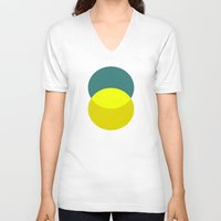 oil V-neck T-shirts featuring oil by simple