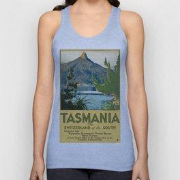 Vintage poster - Tasmania Unisex Tank Top