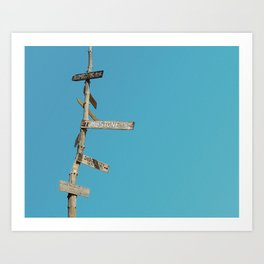 Crossroads Sign at Pioneertown Old West Town Art Print
