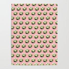 Peyote cactus pattern Poster