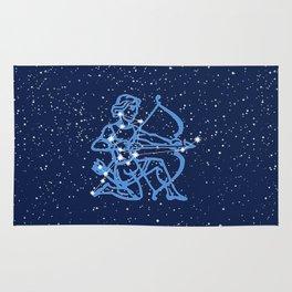 Sagittarius Constellation & Zodiac Sign with Stars Rug