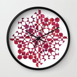 IG red wine Wall Clock