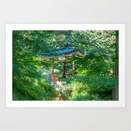 Ongnyucheon Pavilion, Changdeokgung Palace, Seoul Art Print