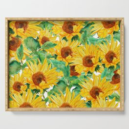 sunflower pattern Serving Tray