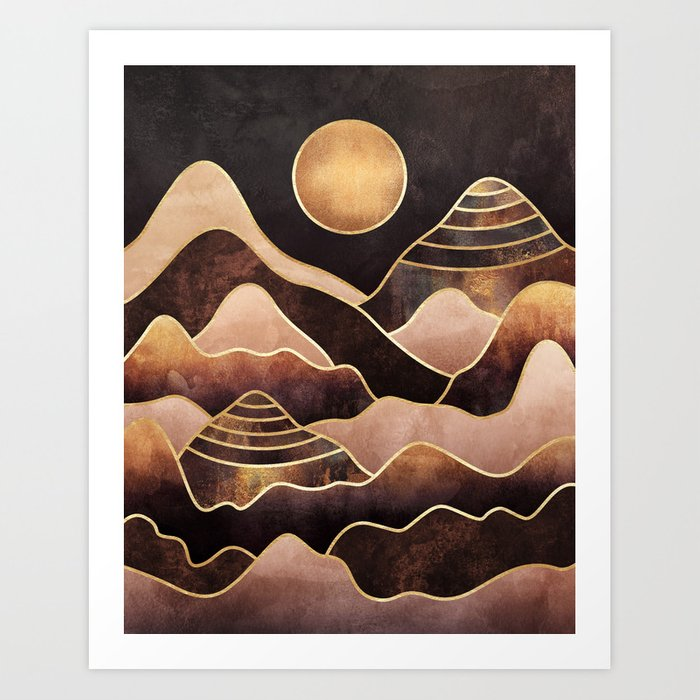Sunkissed Mountains Art Print