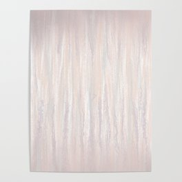 Abstract blush drips Poster