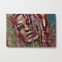 Lebanese Blonde Portrait by Jeanpaul Ferro Metal Print