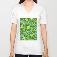 tennis V-neck T-shirts featuring Tennis by joanfriends