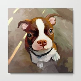 Puppypainting Metal Print