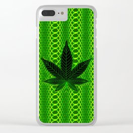 Psychedelic Kush Clear iPhone Case