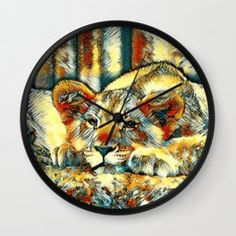 AnimalArt_Lion_20171205_by_JAMColorsSpecial Wall Clock