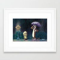 hobbes Framed Art Prints featuring My Neighbor Hobbes by Josh Mauser