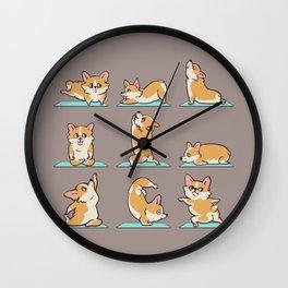 Corgi Yoga Wall Clock