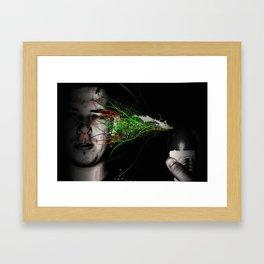 SPRAYED FACE! Framed Art Print
