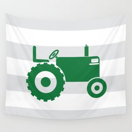 Green tractor Wall Tapestry