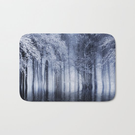 Mystical Winter Lake Bath Mat