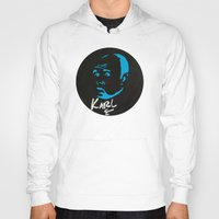 karl Hoodies featuring Karl Pilkington  by All Surfaces Design
