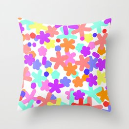 Happy floral pattern spring Cute Throw Pillow