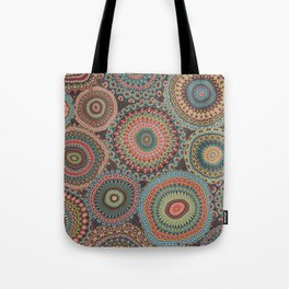 Boho Patchwork-Vintage colors Tote Bag