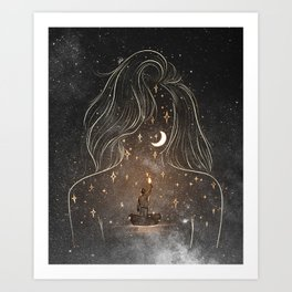 I see the universe in you. Art Print