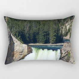 At The Brink Of Yellowstone Falls Rectangular Pillow
