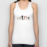 conan Tank Tops featuring Conan the Pixelated by 84Nerd