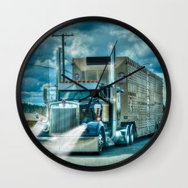 The Cattle Truck Wall Clock