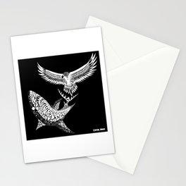 crouching shark hidden eagle ecopop Stationery Cards